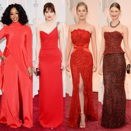 Which Red Dress Set the Oscars Red Carpet on Fire?