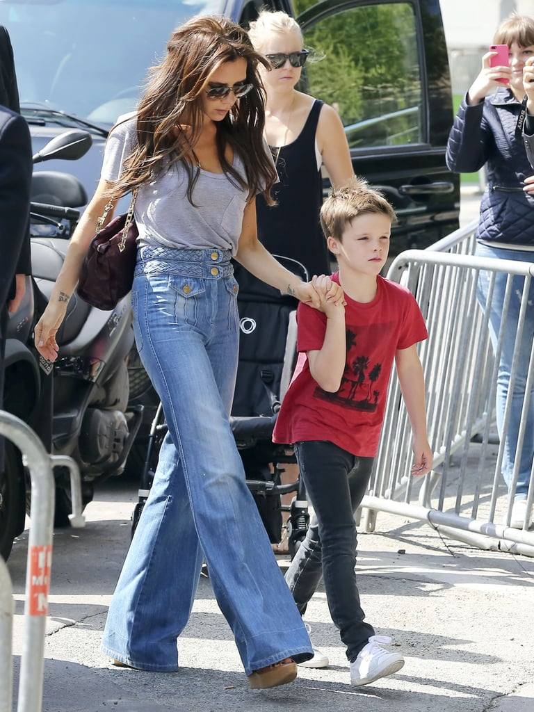Victoria Beckham and son Cruz visited the Eiffel Tower and dined at a fancy restaurant with the rest of their clan on Sunday.