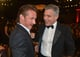 Sean Penn linked up with George Clooney during the gala.