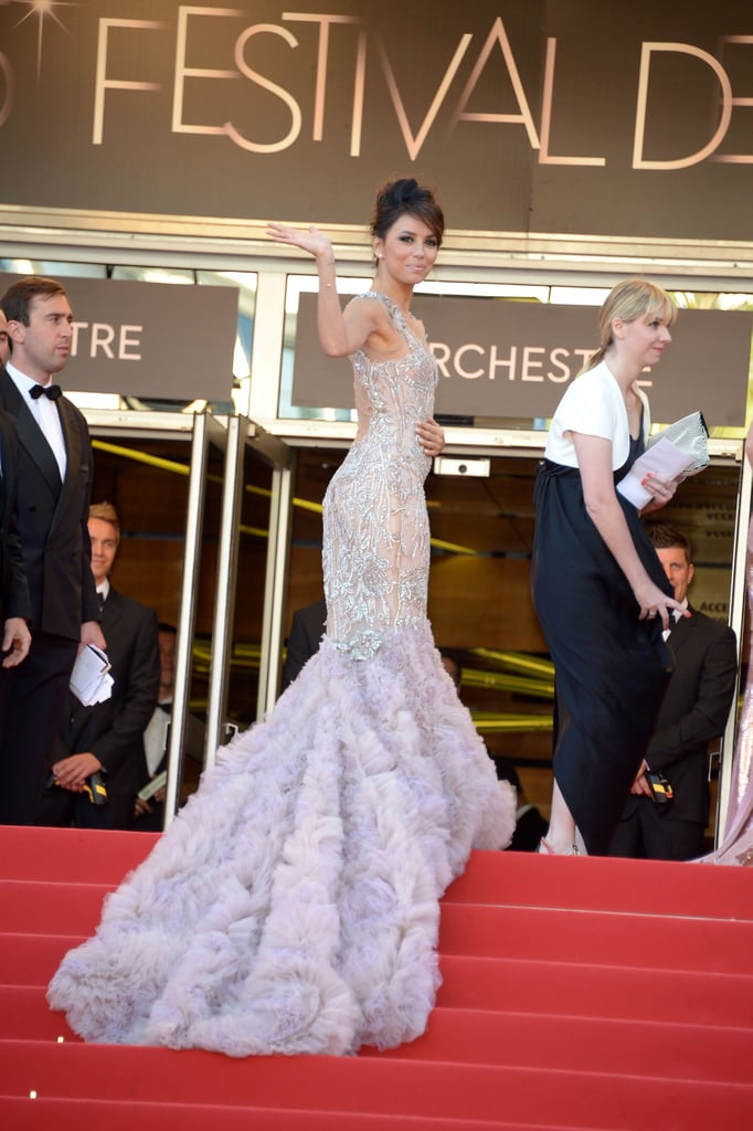 At the Cannes Film Festival in 2012, Eva Longoria wore a stunning lilac gown.