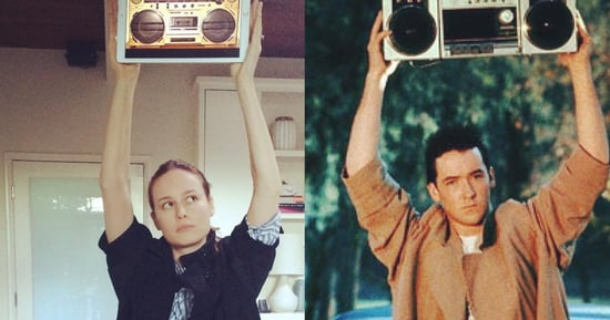 Brie Larson's Trench Coat Inspires Her to Flawlessly Recreate 'Say Anything'