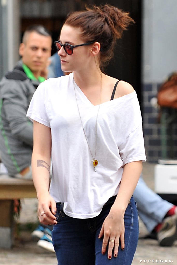 Kristen Stewart enjoyed some downtime with her friends in Berlin.