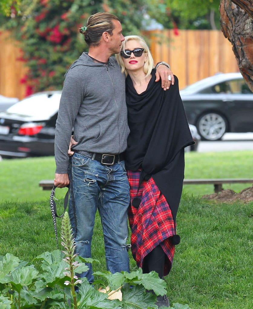 Gavin planted a kiss on Gwen during a stroll in LA in April 2013.