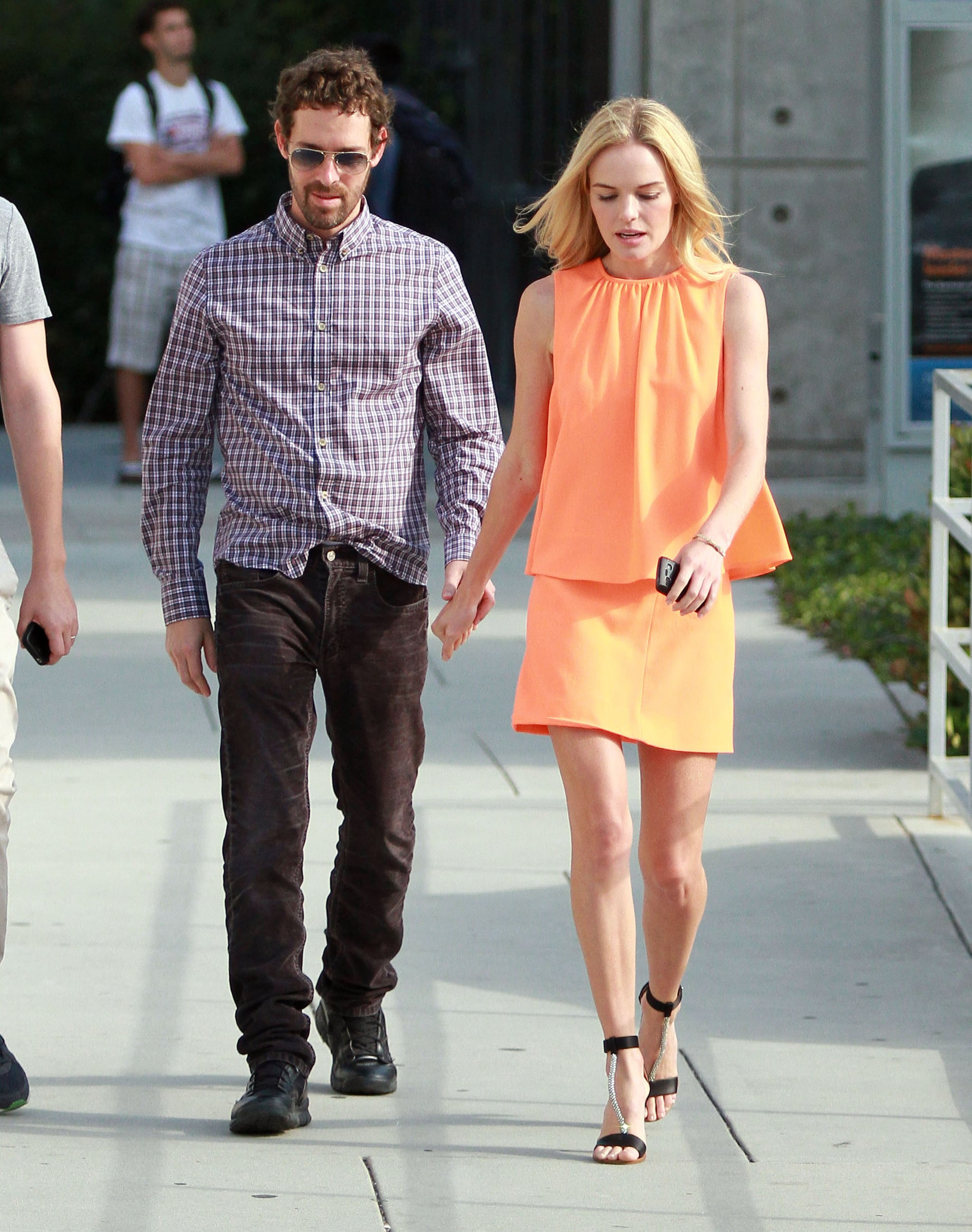 Kate Bosworth in a chic bright dress.