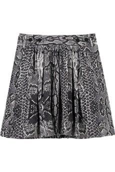 Noel snakeskin-print silk skirt$265