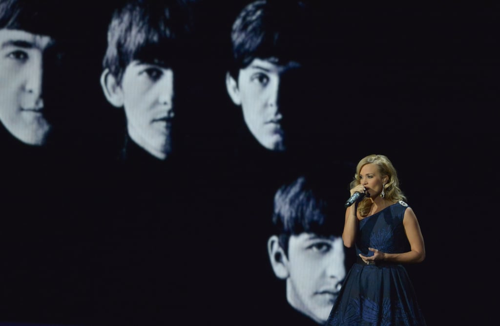 Carrie Underwood performed a Beatles song as a tribute to their first performance on TV.