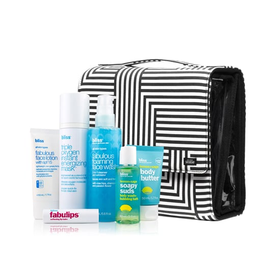 I've had my eye on a Kate Spade bag for some time now, and the Kate Spade Saturday + Bliss Go Time Set ($125) is one way to treat myself this season. Inside the designer travel bag is everything you need for a spa day including the Triple Oxygen Energizing Mask and the Lemon+Sage Body Butter. This will really come in handy after a holiday spent with the family.  — JC