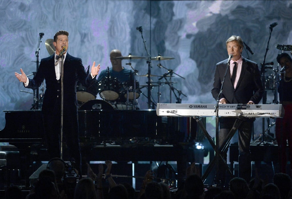 Robin Thicke and Lou Pardini performed a medley.