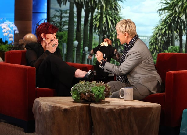 Sharon Osbourne's Tattooed Onesie