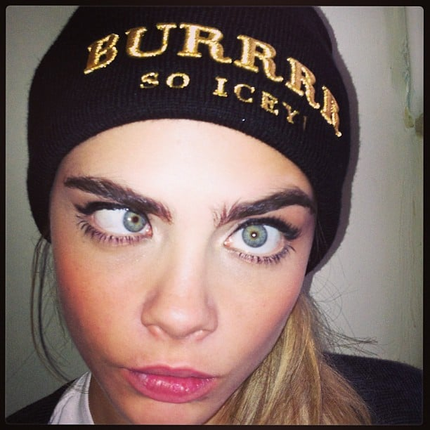 Cara Delevingne showed off one of her now-infamous goofy faces. Source: Instagram user caradelevingne