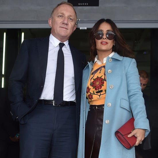 Salma Hayek and Her Husband at Milan Fashion Week