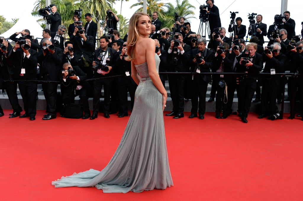 Rosie Huntington-Whiteley slayed the red carpet at the Cannes premiere of The Search.