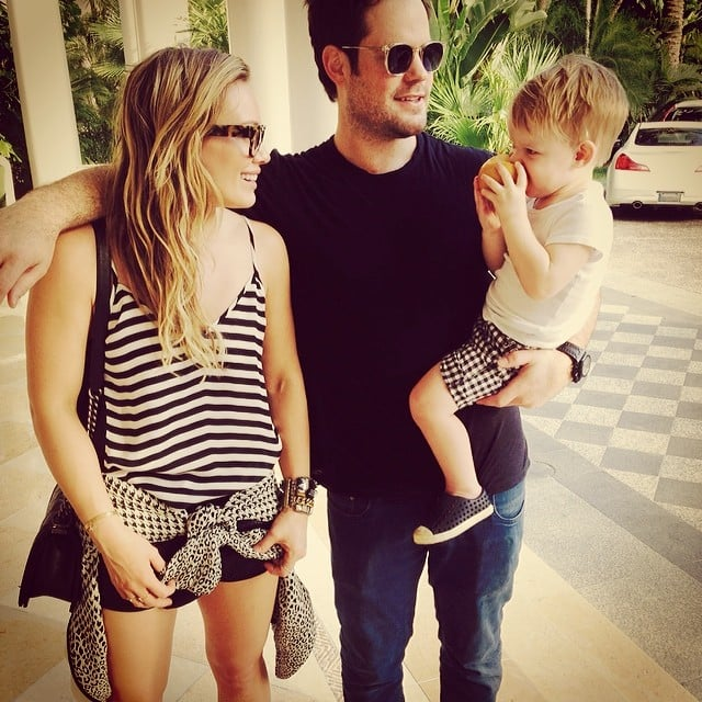"""Hilary Duff and Mike Comrie reunited for a """"modern family vacation"""" with their son, Luca. Source: Instagram user hilaryduff"""