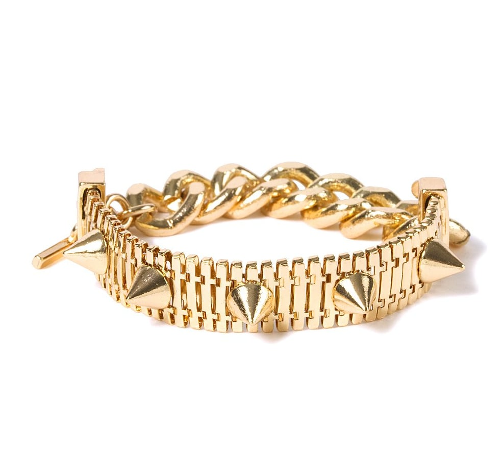 Get a cool-girl version of the everyday bangle with this Claire's chain-link and spike bracelet ($6).