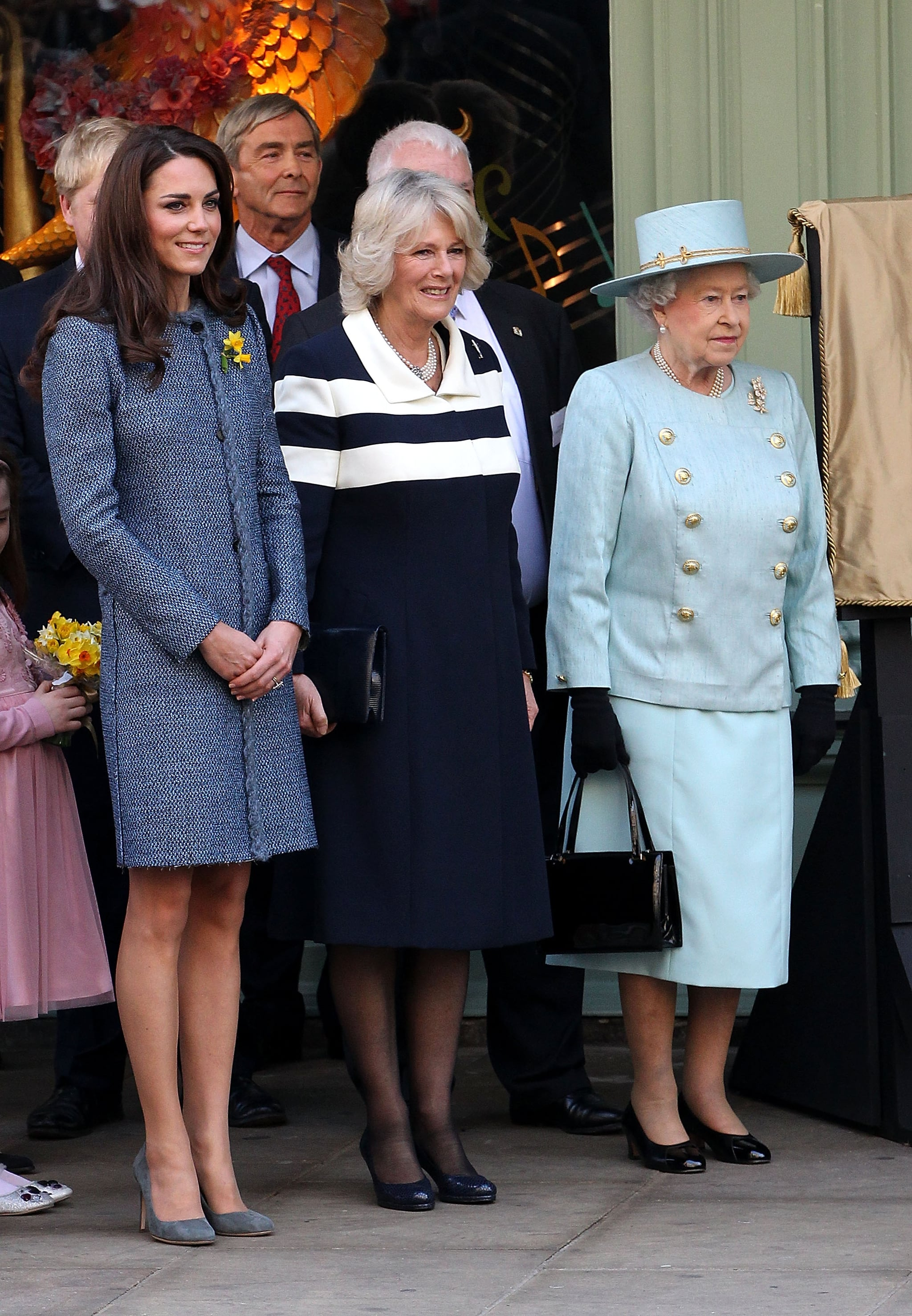 In March 2012, Kate joined up with Queen Elizabeth II and Camilla when they visited the Fortnum & Mason store in London.