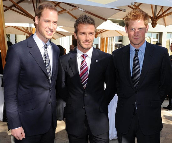 Picture of David Beckham With England's Princes William and Harry