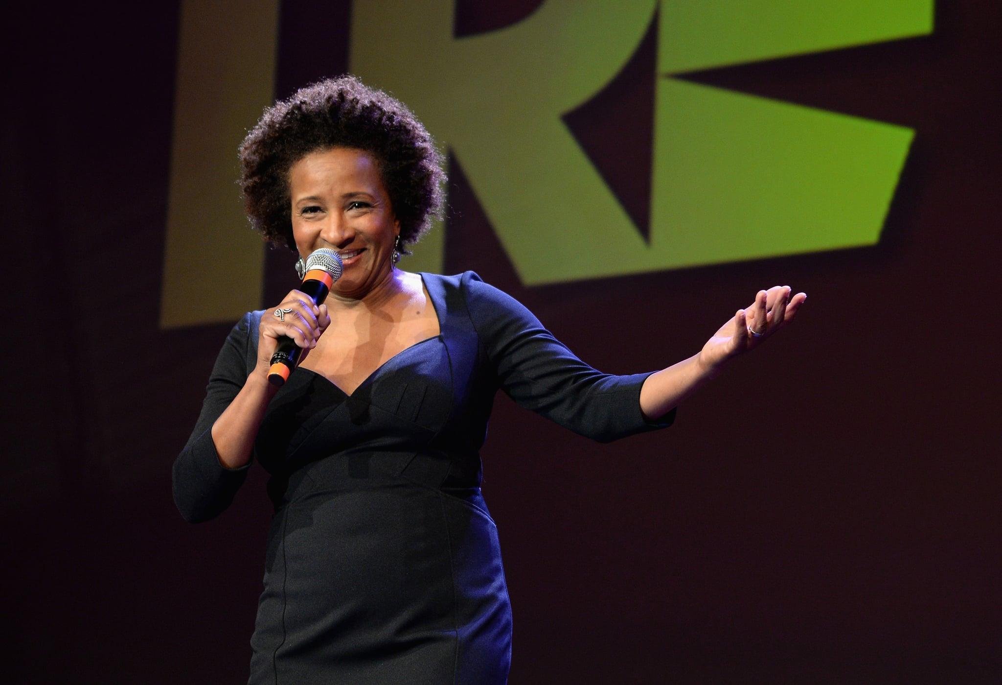 Host Wanda Sykes cracked jokes on stage.