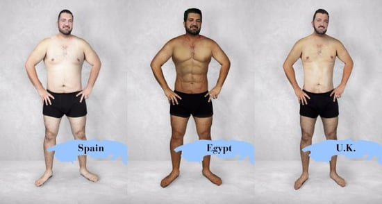 One Guy Was Photoshopped To Have The Perfect Body In 19 Countries