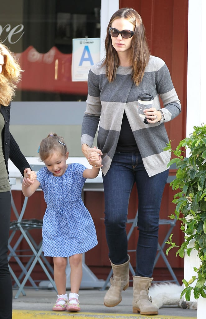 Jennifer Garner held hands with Seraphina out in LA.