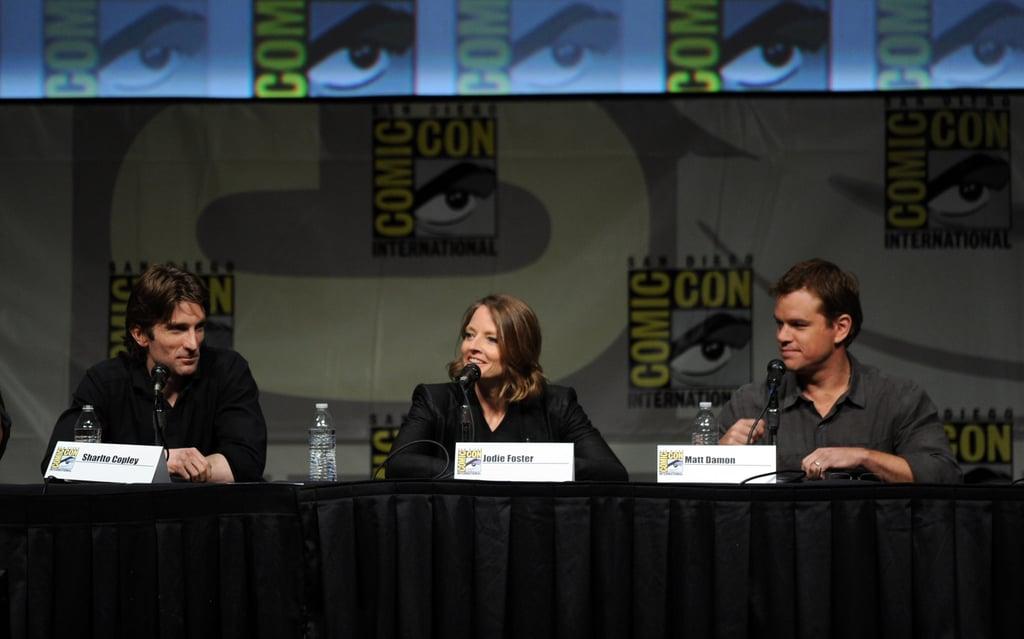 Sharto Copley, Jodie Foster, and Matt Damon did Comic-Con.