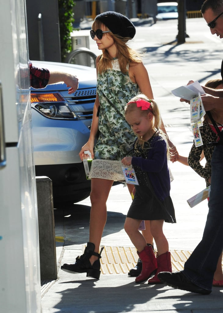 Nicole Richie brought Harlow Madden and her friends to a concert in LA.