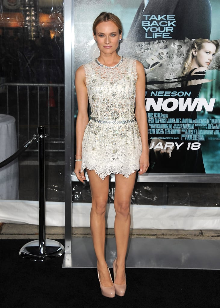 She wore a sparkly, lacy Dolce & Gabbana for the Unknown LA premiere in February 2011.