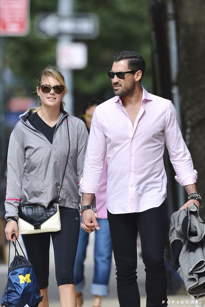 Kate Upton and Maksim Chmerkovskiy showed PDA.