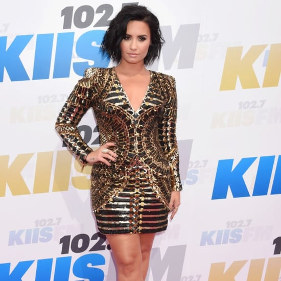 Demi Lovato's Balmain Dress at Wango Tango 2016