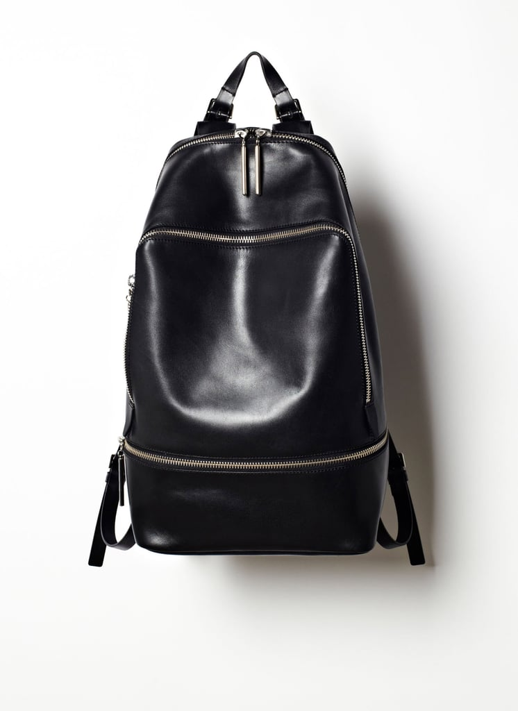Even out your load by toting your stuff around in a backpack. This leather version ($1,100) from 3.1 Phillip Lim is destined for the hip downtown girl.