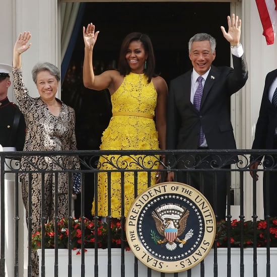 Michelle Obama's Yellow Naeem Khan Dress August 2016