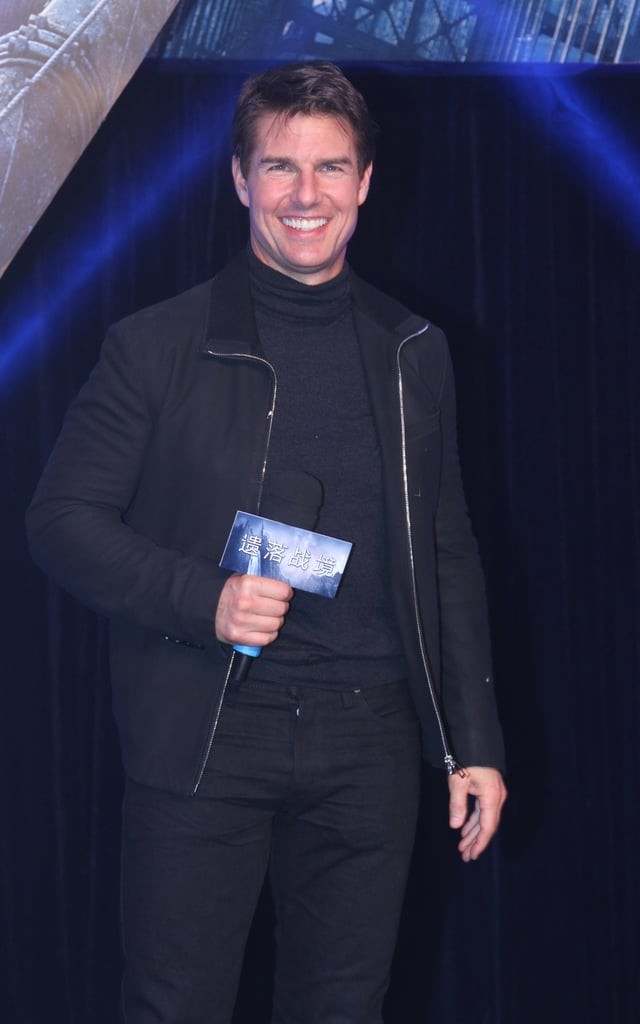 Tom Cruise attended the Beijing premiere of Oblivion.