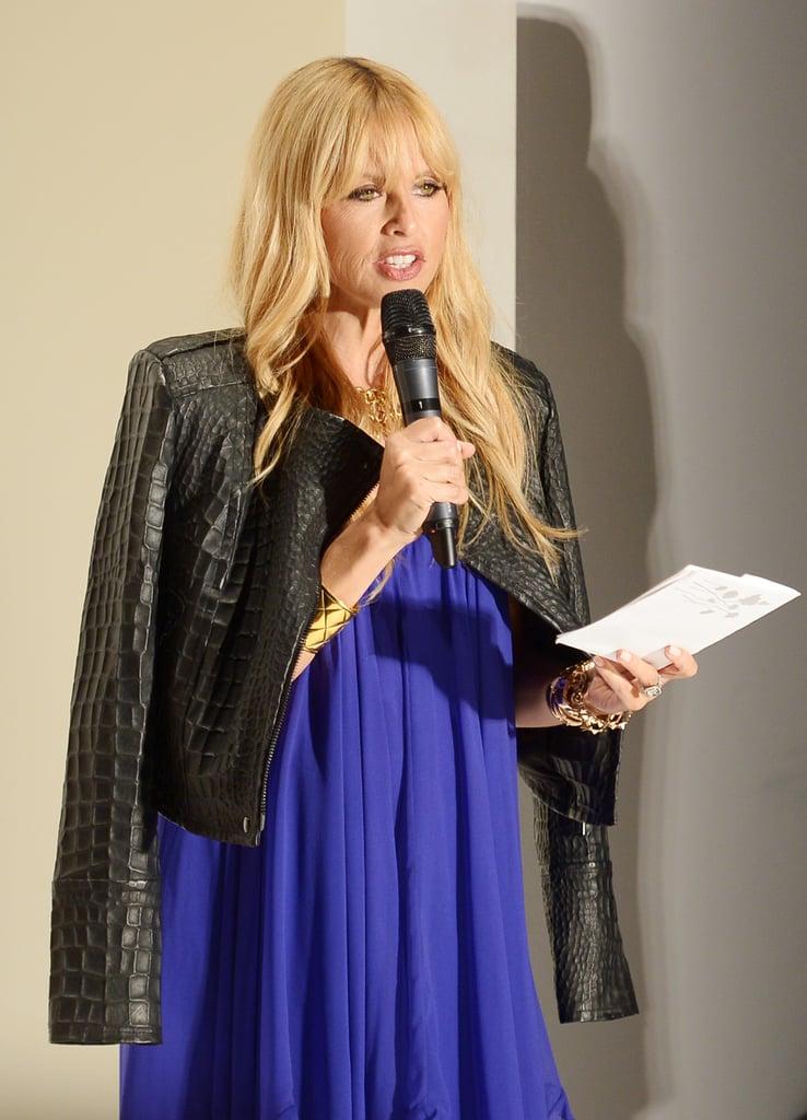 Rachel Zoe spoke on stage at the Supima presentation on Thursday.