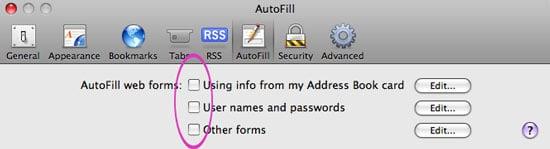 Safari Autofill Security Flaw