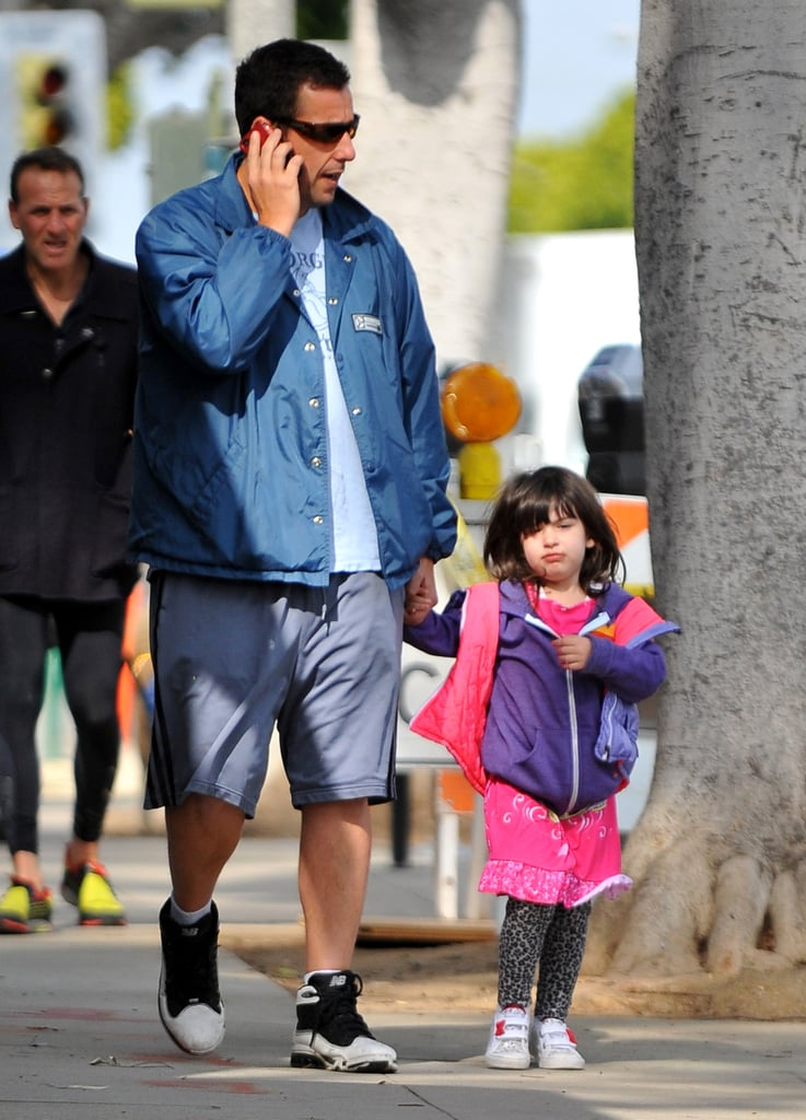 Adam Sandler and his youngest daughter, Sunny Sandler, strolled in LA together Friday.