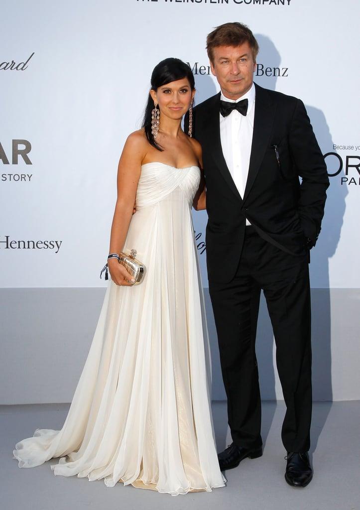 Alec Baldwin and Hilaria Thomas attended the amfAR Cinema Against AIDS gala.