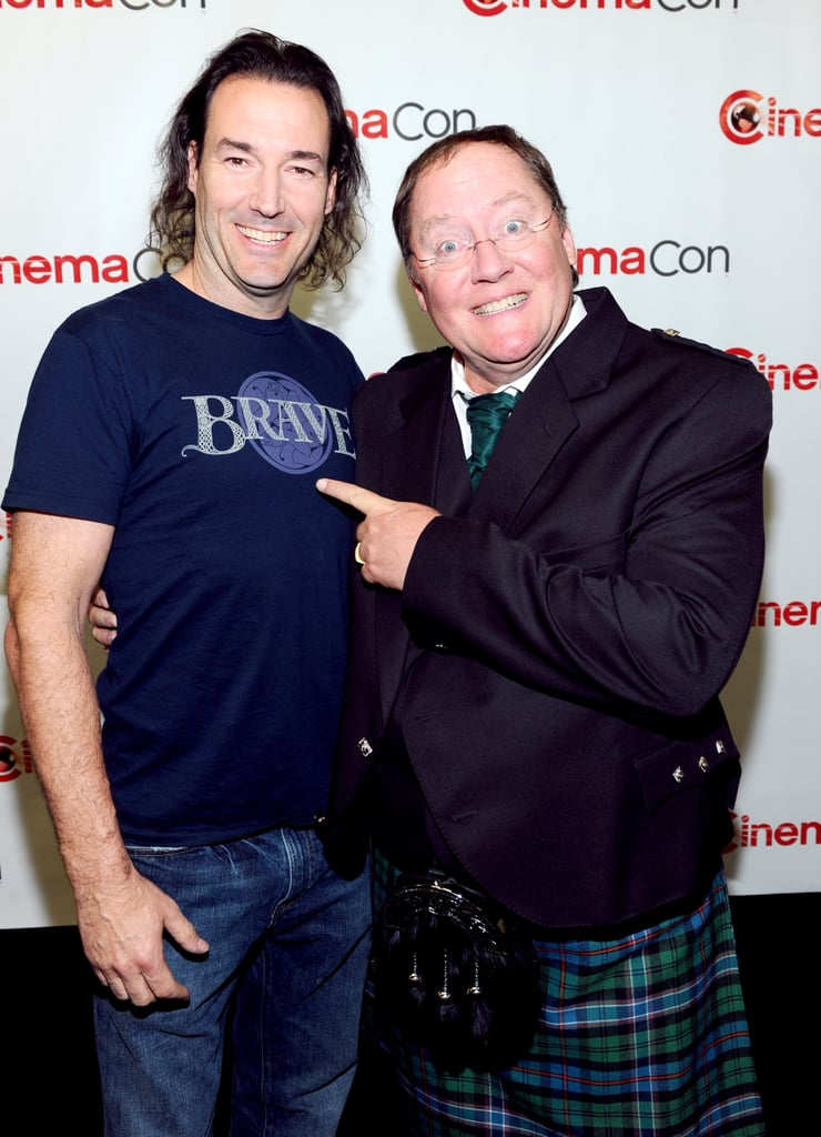 Mark Andrews and John Lasseter posed together at CinemaCon in Las Vegas.