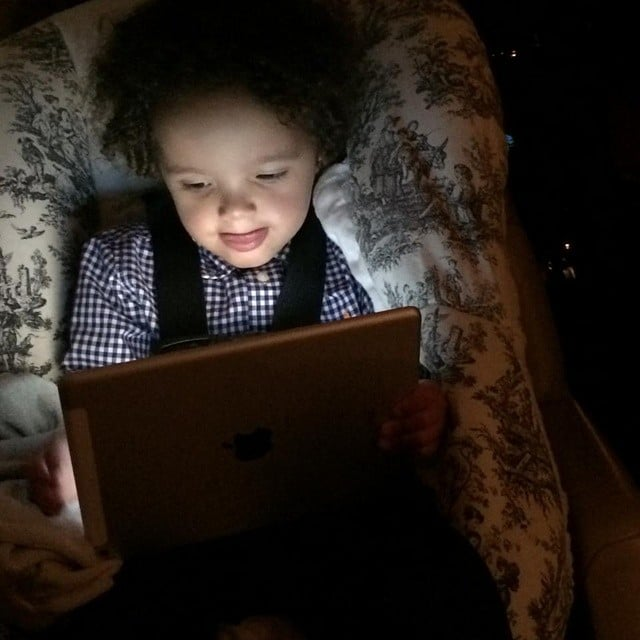 Mariah Carey's son Rocco really enjoyed his screen time.  Source: Instagram user mariahcarey