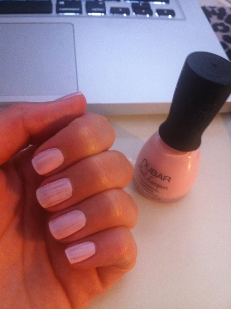 Coat one after base coat. Remember base coat is important and will stop your nails going yellow from the polish.