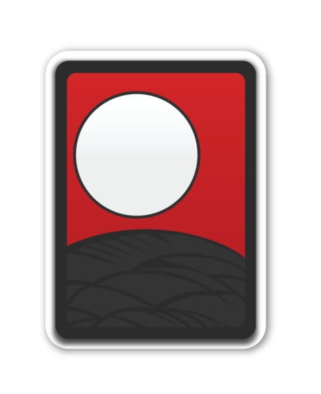 """Interpretation: """"The white sun is setting over the mountains."""" Name + meaning: Flower Playing Cards. A deck of playing cards Emoji. This is of the top of the deck, with no card face showing. Also known as: Playing cards emoji; deck of cards emoji"""