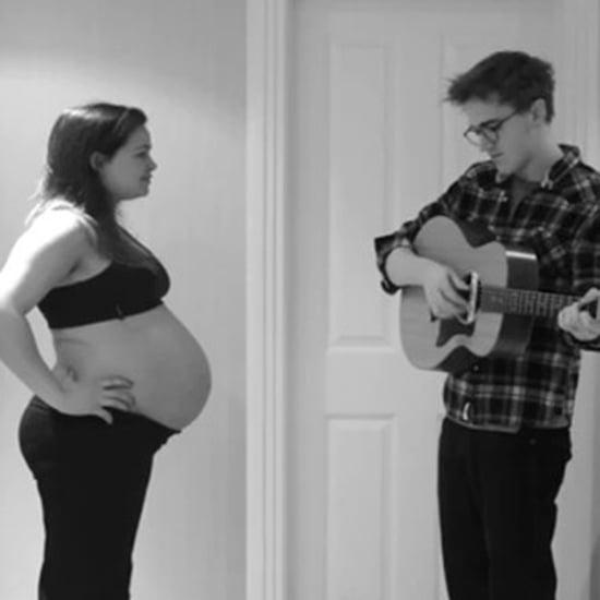 Dad Documents Wife's Pregnancy