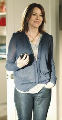 Ellie Torres In Navy Cardigan and Jeans on Cougar Town