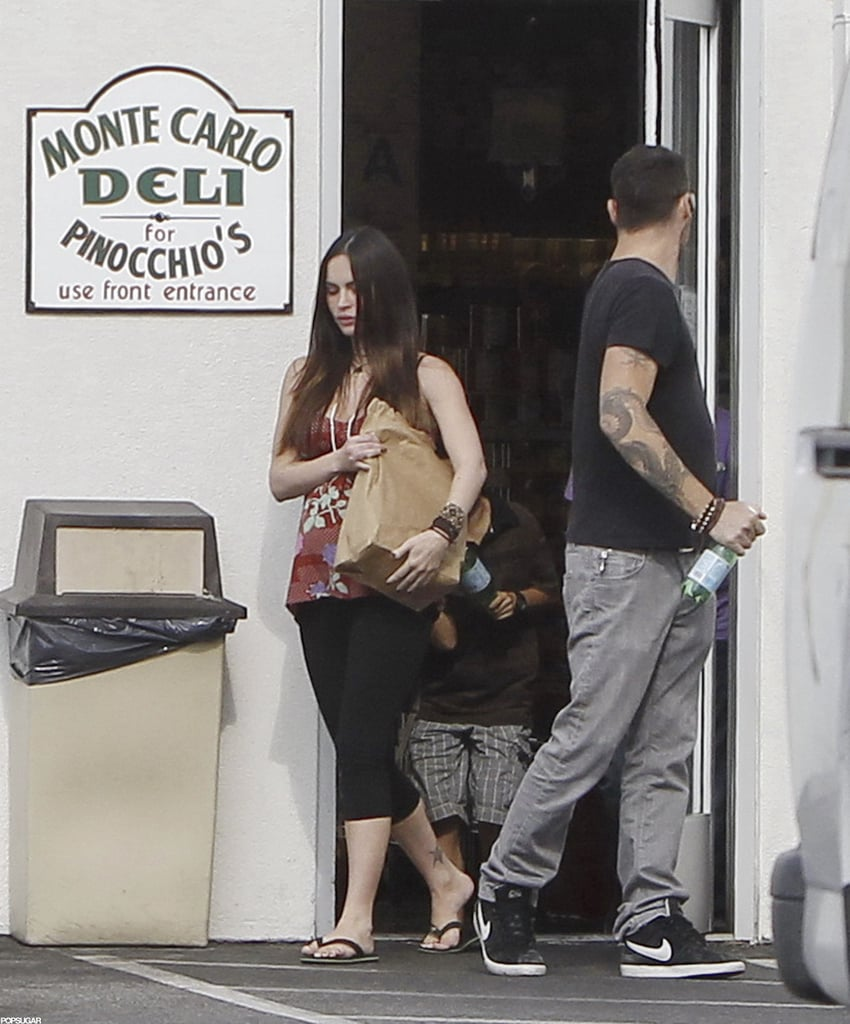 Megan Fox picked up some food at a deli with husband Brian Austin Green.