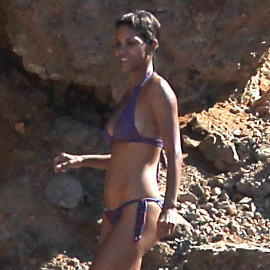 Halle Berry Bikini Pictures in Spain With Olivier and Nahla