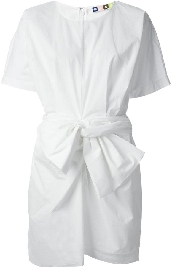 MSGM White Knot Front Dress