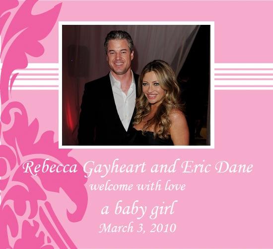 Rebecca Gayheart and Eric Dane Welcome Baby Girl