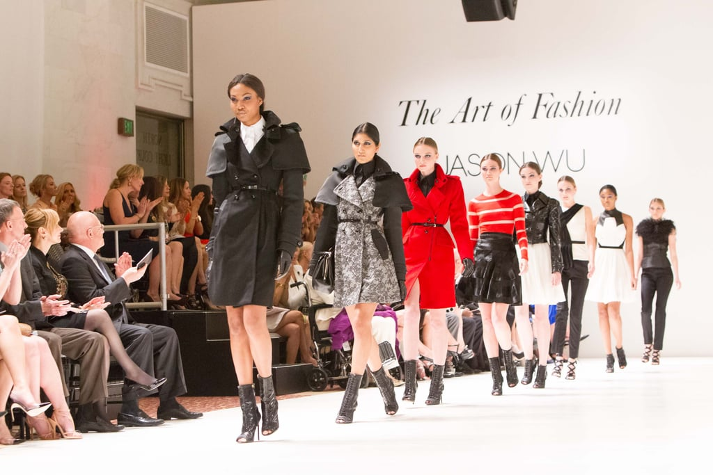 The models hit the runway for the finale.