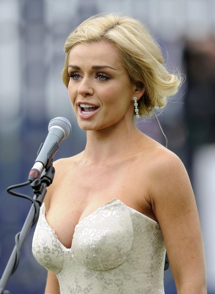 Katherine Jenkins performed the national anthem.