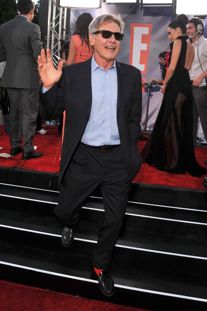 Harrison Ford waved to fans.