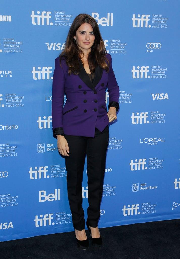 Penelope Cruz posed at the Toronto International Film Festival.