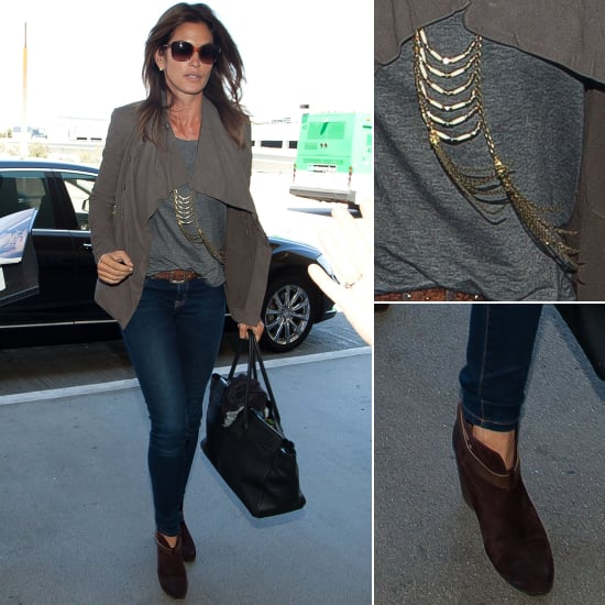 Cindy Crawford Airport Style
